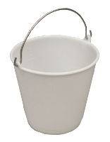 White polyethylene 14 liter bucket