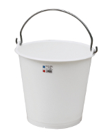 White polyethylene 22 liter bucket