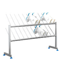 Boot rack for 12 pairs