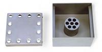 Stainless steel floor drain 200x200, bottom discharge