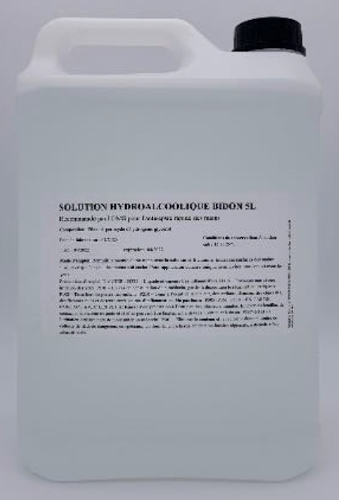 Solution hydroalcoolique mains 5L