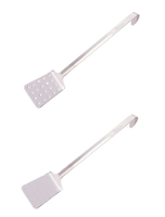 Stainless steel perforated or plain spatula