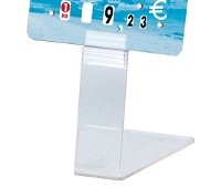 Support étiquette PVC transparent (sachet 25)