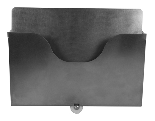 Wall mounted stainless steel magnetic holder A4 sheets