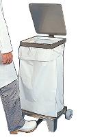 Support sac poubelle inox à pédale
