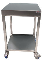 Table desserte inox - Petite table a roulette ...