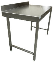 Eco stainless steel preparation table with upstand