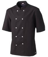 Veste cuisinier noire manches courtes