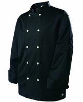 Veste cuisinier noire manches longues